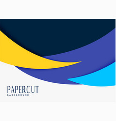 Abstract papercut style background design vector