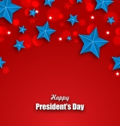 Abstract Stars Background for Happy Presidents Day vector