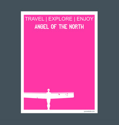 Angel of the north gateshead united kingdom vector