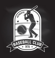 baseball or softball club badge vector image