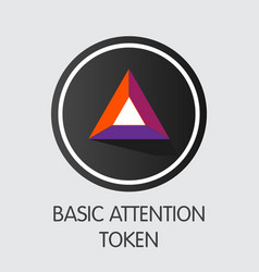 Basic attention token - crypto currency coin vector