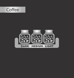 Black and white style icon coffee jar beans vector