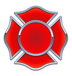 Blank fire department logo base vector