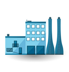 blue factory flat industry plant vector image