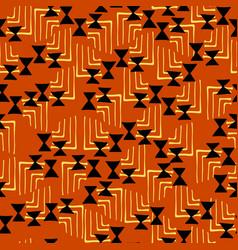 bold geometric ethnic seamless pattern orange ye vector image