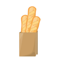 Bread loaf box vector