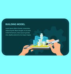 building model website banner template vector image