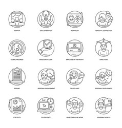 Business line icons 3 vector