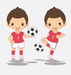 Cartoon of soccer red player vector