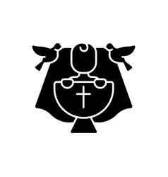 christening black glyph icon vector image
