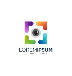 Colorful photography logo design vector