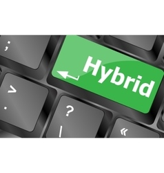 Computer keyboard with hybrid key - business vector image
