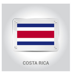 costa rica independence day design card vector image