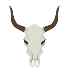 Cow skull with horns vector