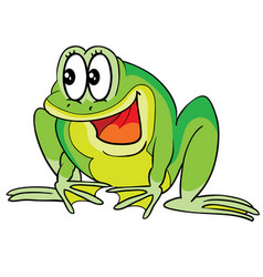 crazy frog character cartoon isolated object on vector image