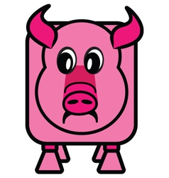 Cube pig vector