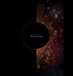 dark abstract background with golden glitter and vector image