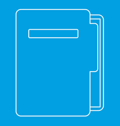 document folder icon outline style vector image