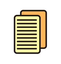 document icon isolated on white background from vector image