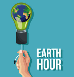 earth hour design vector image