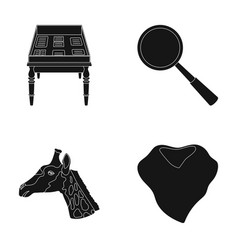 Education animal and or web icon in black style vector