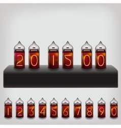 Electric lamps set calendar clock vector