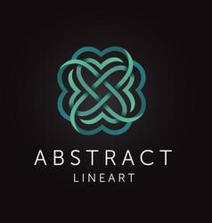 Elegant abstract monogram line art design vector