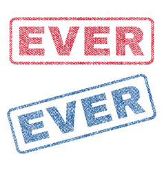 Ever textile stamps vector