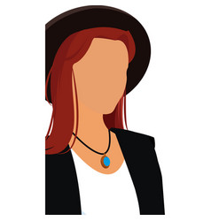 Fashionable woman no face hat design vector