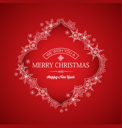 festive winter holidays greeting template vector image