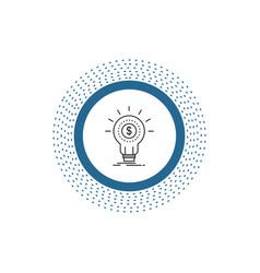 finance financial idea money startup line icon vector image