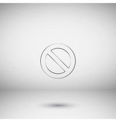Forbidden sign isolated vector