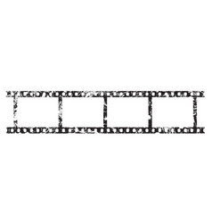 four frames 35 mm film strip vector image