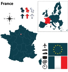 france and european union map vector image