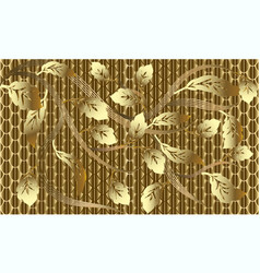 Gold baroque floral 3d seamless pattern vector