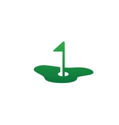 Green golf logo icon design element vector