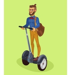 guy using segway vector image