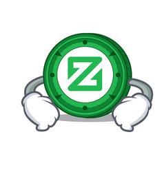 Hand on waist zcoin character cartoon style vector