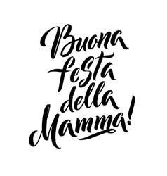 Happy mother s day italian greeting card black vector
