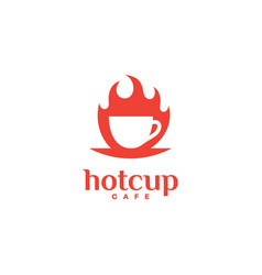 hot cup logo vector image