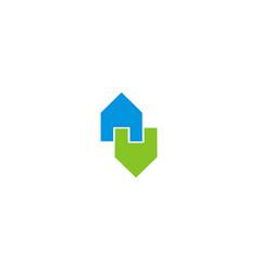 house logo houses logo icon design template vector image vector image