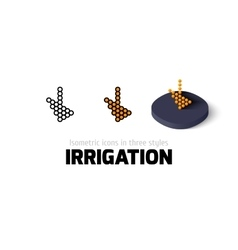 Irrigation icon in different style vector image