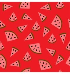 Juicy watermelon pattern vector image vector image