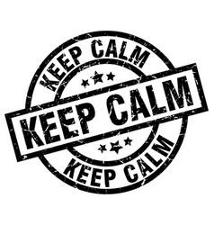 keep calm round grunge black stamp vector image