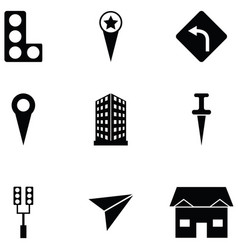 location icon set vector image