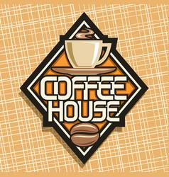 Logo for coffee house vector