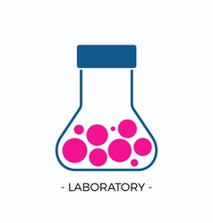 Logo for laboratory vector