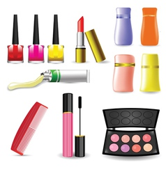 Makeup cosmetic product vector