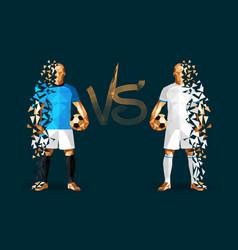 Manchester city vs hoffenheim soccer players vector