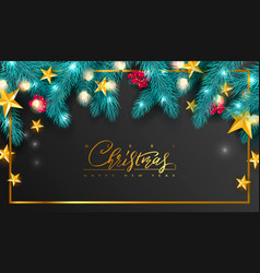 merry christmas and happy new yearuniversal vector image